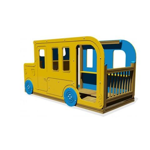 Ahşap Oyun Otobüsü