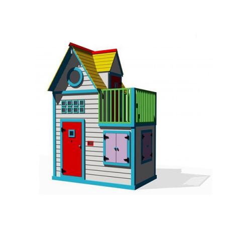 Ahşap Renkli Oyun Evi