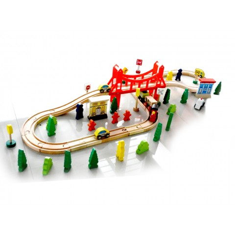 Ahşap Tren Seti