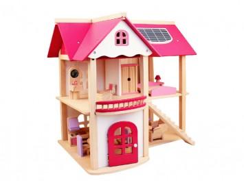 Ahşap Oyun Evi Mobilyalı