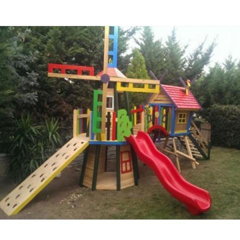 Ahşap Modern Oyun Parkı