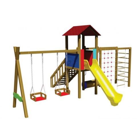 Ahşap Fonksiyonel Oyun Parkı