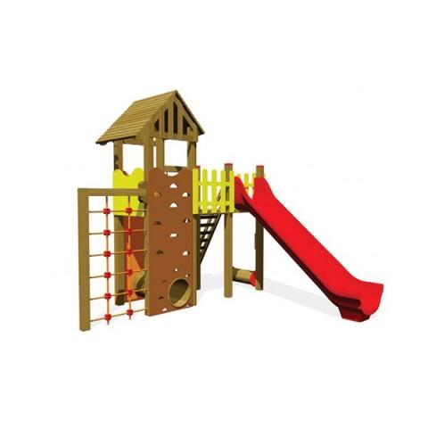 Ahşap Tırmanmalı Oyun Parkı
