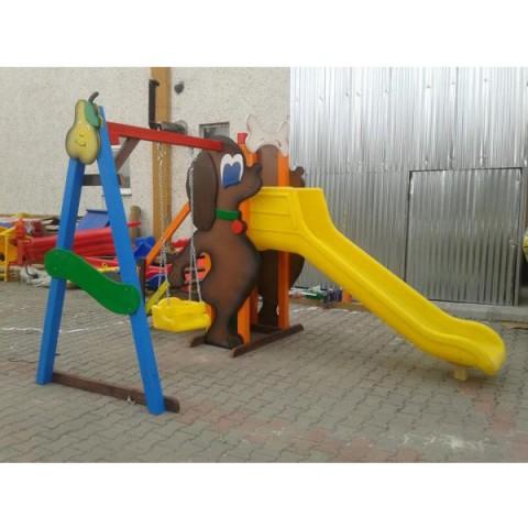 Ahşap Şirin Köpek Oyun Parkı