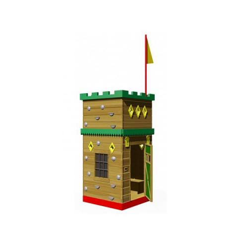 Ahşap Oyunevli Tırmanma Kulesi