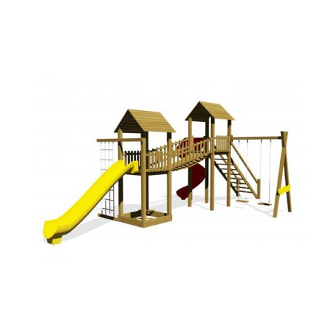 Ahşap Naturel Oyun Parkı