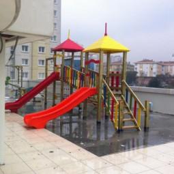 Ahşap Çift Kuleli Oyun Parkı