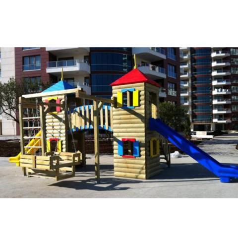 Ahşap Kütük Oyun Parkı