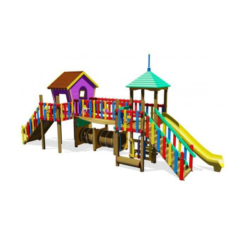 Ahşap Renkli Oyun Park