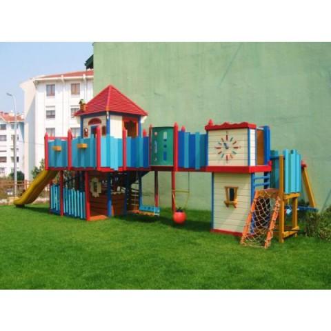 Ahşap Renkli Oyun Parkı