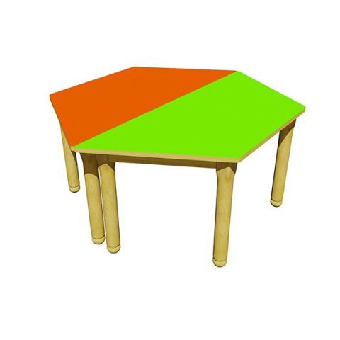 Ahşap Altıgen Masa
